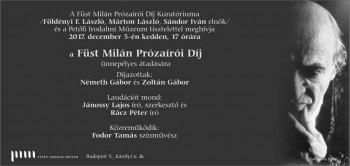 Füst Milán Prózaírói Díj