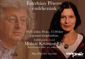 Esterházy Péterre emlékezünk