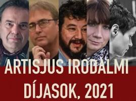 Artisjus Irodalmi Díjak, 2021